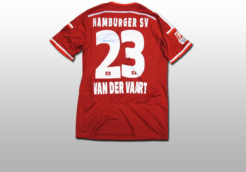 getragenes signiertes hsv trikot von rafael van der vaart. Black Bedroom Furniture Sets. Home Design Ideas