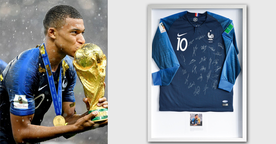 designer fashion 225a6 24407 Kylian Mbappé's Shirt Signed by the Football World Champions