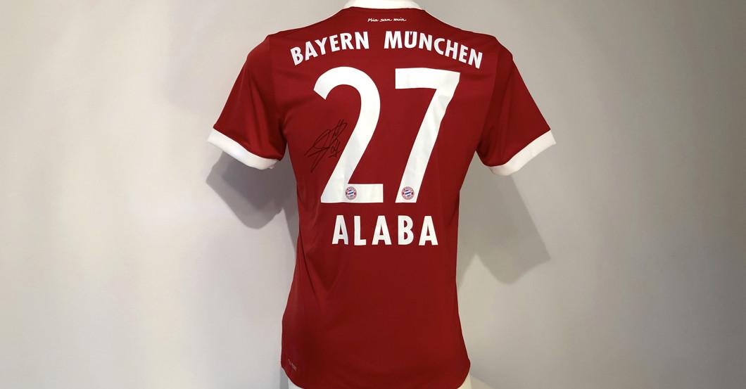Für Fans Von David Alaba Sein Signiertes Fc Bayern Trikot