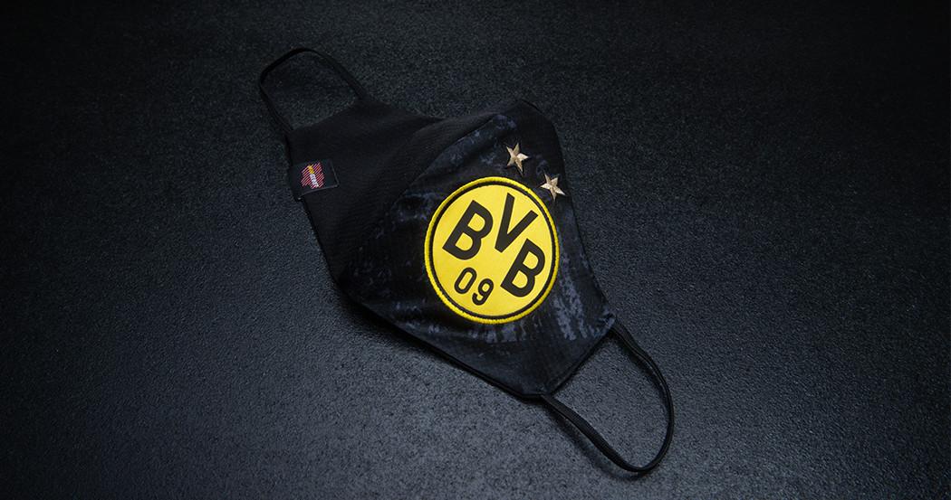 Einmalig Bvb Alltagsmaske Aus Original Trikot Mit Logo