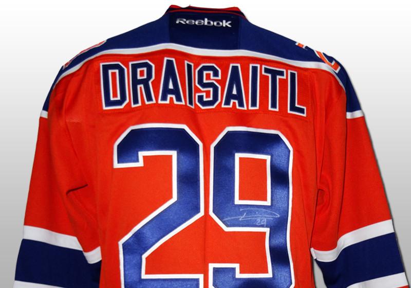 Aitry Leon Draisaitl Hockey Trikot # 29 Edmonton Oilers Hockey Trikot Herren Sweatshirt Atmungsaktives T-Shirt