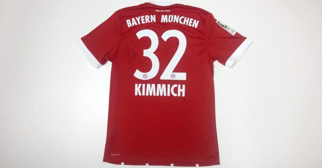 huge discount 8023f b51ed Signed Shirt Donated by Bayern Munich Back Joshua Kimmich