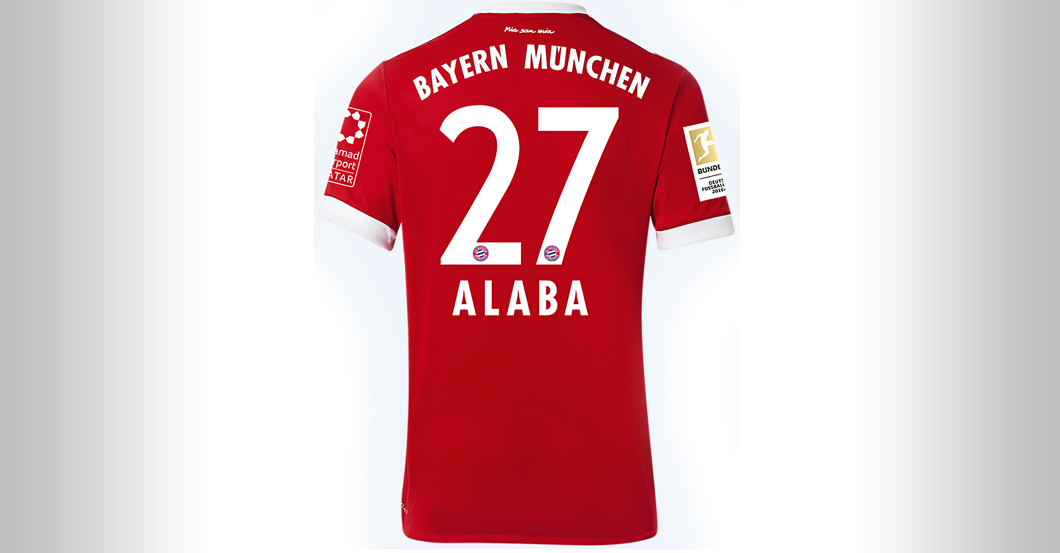 new product 8a233 f96cd Straight from FC Bayern versus BVB: David Alaba's Jersey