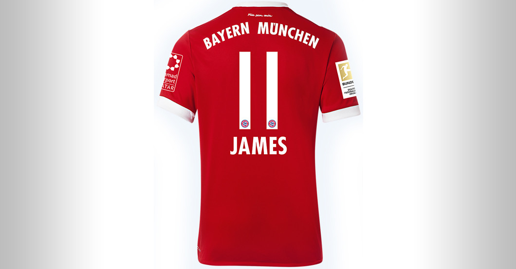 competitive price 25ece 26b51 Straight from FC Bayern versus BVB: James Rodríguez's Jersey