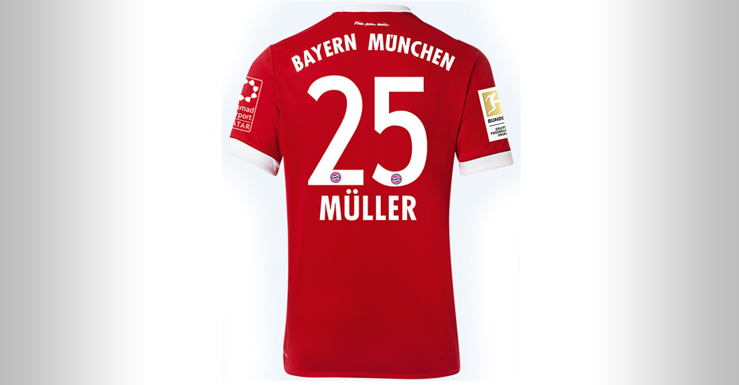 sneakers for cheap 08753 753ec Straight from FC Bayern versus BVB: Thomas Müller's Jersey