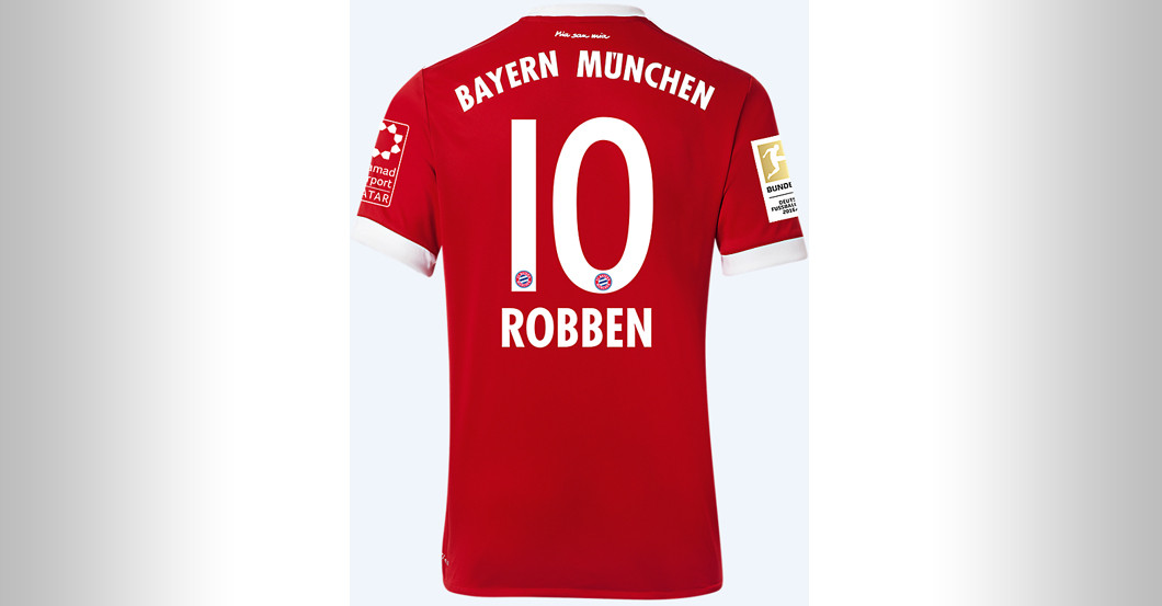 finest selection 25f31 a8244 Straight from FC Bayern versus BVB: Arjen Robben's Jersey