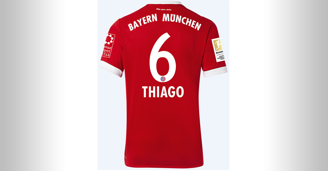 new products 33125 9b72a Straight from FC Bayern versus BVB: Thiago's Jersey