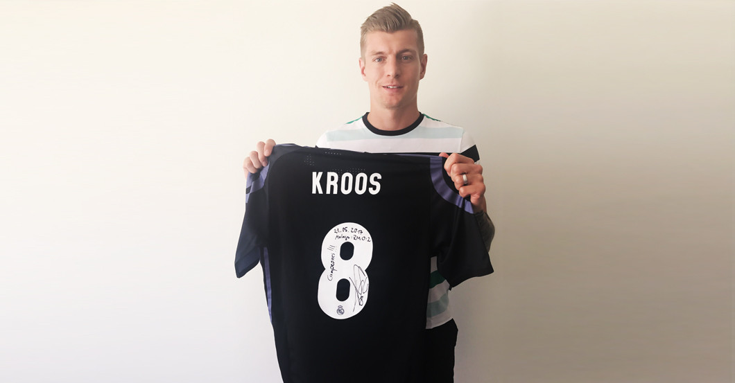 promo code b9b32 b93a5 Sensation: Toni Kroos Meister-Trikot von Real Madrid