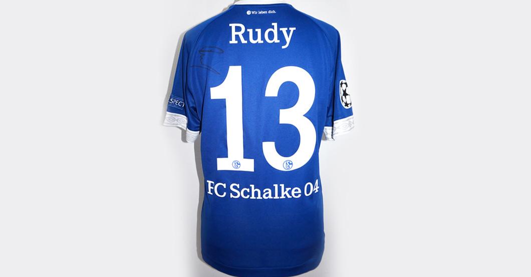 on sale 72514 682fa Sebastian Rudy – der Schalke-Neuzugang signiert Trikot