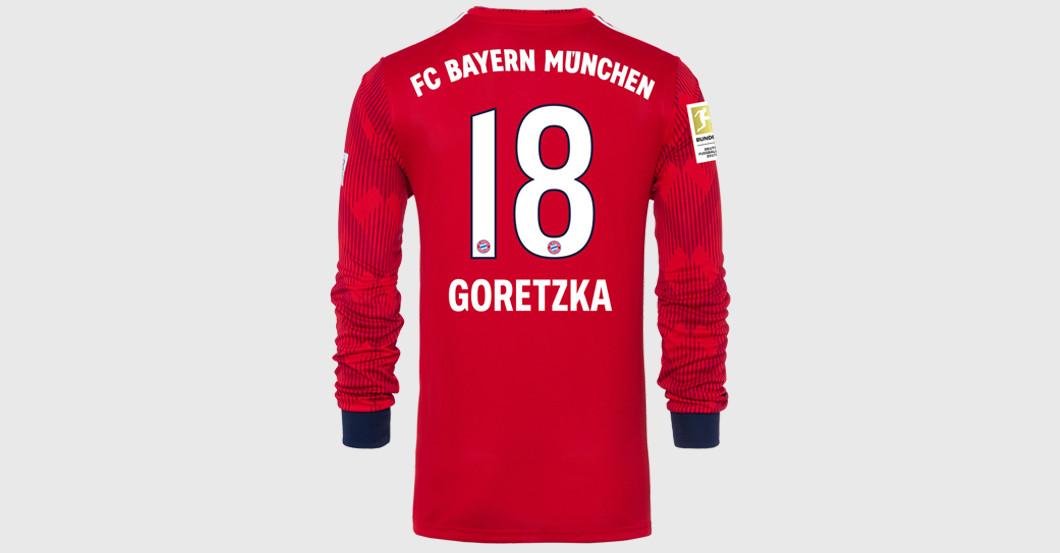 half off bf6ce 6f1f7 Straight from Bayern Munich vs BVB: Goretzka's Worn Shirt