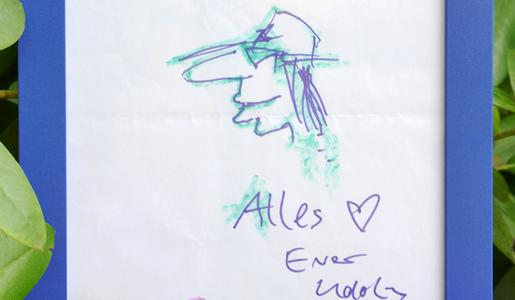 ein echtes udo lindenberg unikat gezeichnetes selbstportr t