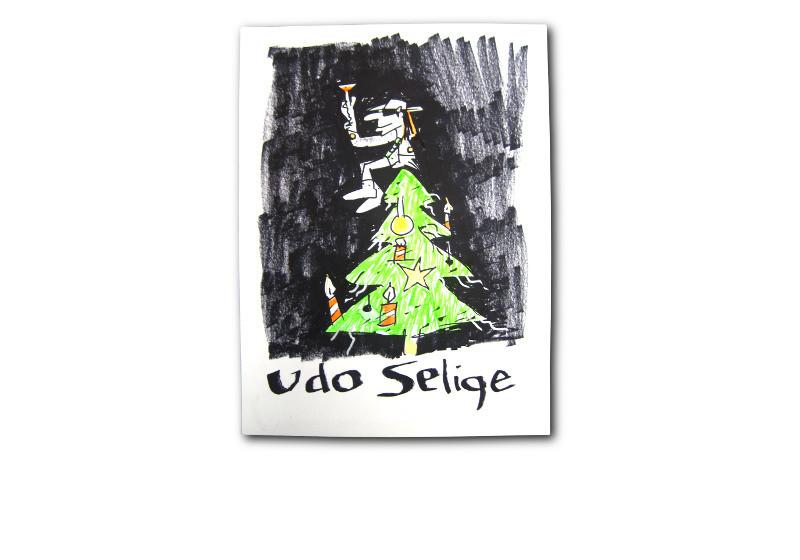 Weihnachtskarten Udo Lindenberg.Von Lindenberg Persönlich Xxl Weihnachtskarte Udo Selige