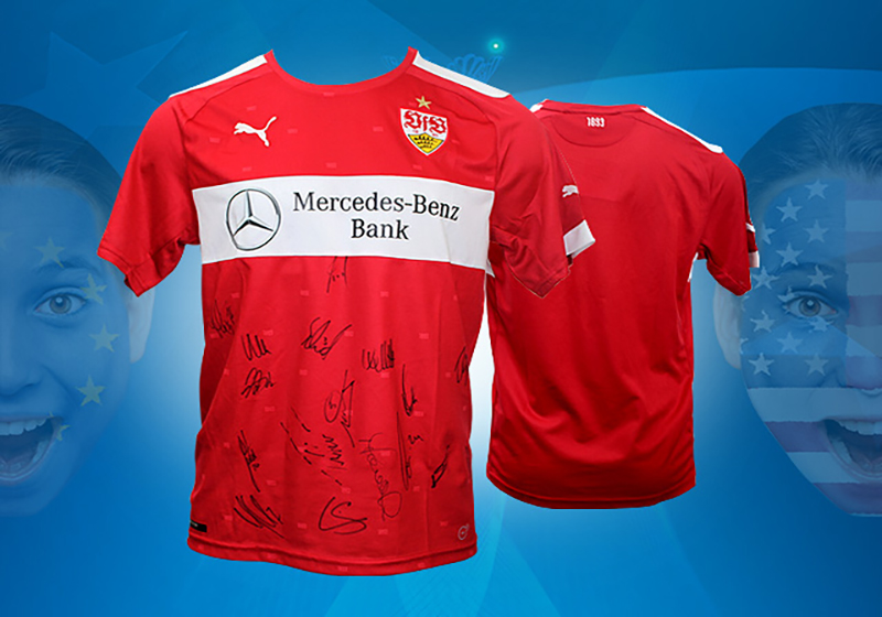 fan highlight trikot des vfb stuttgart vom team signiert. Black Bedroom Furniture Sets. Home Design Ideas